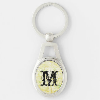 Yellow Paradise Floral Tropical Background Keychain