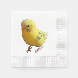 Yellow Parakeet Budgie Photograph Paper Napkin