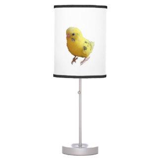 Yellow Parakeet Budgie Photograph Table Lamp