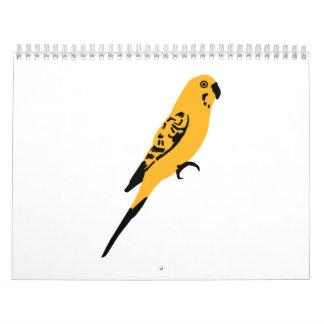 Yellow parakeet calendar