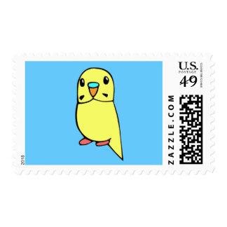 Yellow Parakeet Stamps
