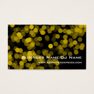 Yellow Party Lights (Music or DJ) Business Cards