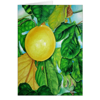 Yellow Passion Fruit Card