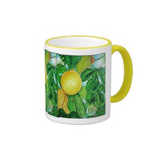 Yellow Passion Fruit Ringer Mug