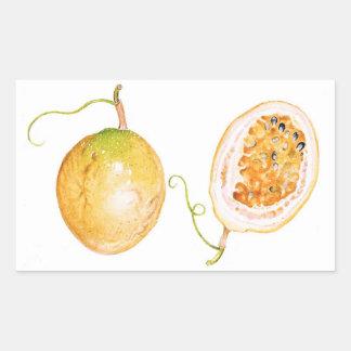Yellow Passion Fruit Rectangular Sticker