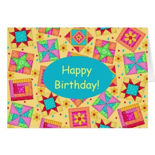 Happy Birthday Quilt Cards Happy Birthday Quilt Card