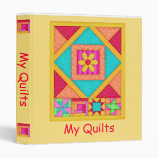 Yellow Patchwork Quilt Binder or Album