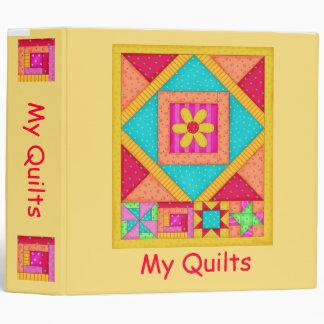 Yellow Patchwork Quilt Binder or Album