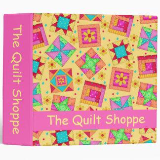 Yellow Patchwork Quilt Custom Business Album Binder