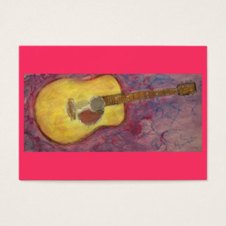 yellow patina acoustic guitar business card