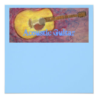 yellow patina acoustic guitar card