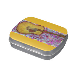 yellow patina acoustic guitar jelly belly tin