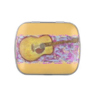 yellow patina acoustic guitar jelly belly tins