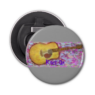 yellow patina acoustic guitar Rock On Bottle Opener