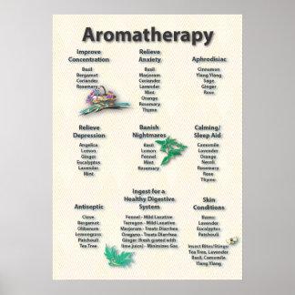 Yellow Pattern Aromatherapy Chart Poster