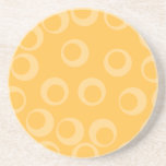 Yellow pattern of circles. Retro. Custom Drink Coasters