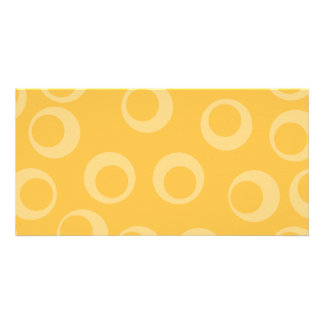 Yellow pattern of circles. Retro. Custom Photo Greeting Card