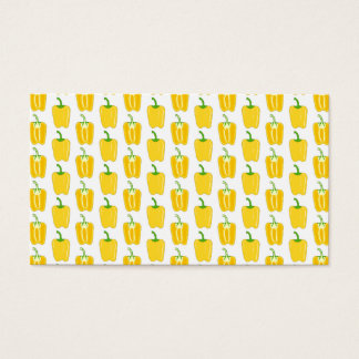 Yellow Pattern of Peppers. Business Card