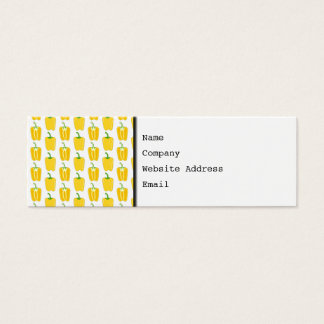 Yellow Pattern of Peppers. Mini Business Card