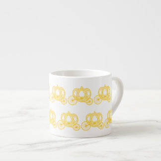 Yellow Pattern of Princess Carriages Espresso Cup