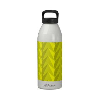 Yellow Pattern Water Bottle
