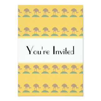 Yellow Pattern with Birds. Card