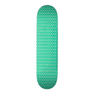Yellow Pattern with Green Background Skateboard Deck