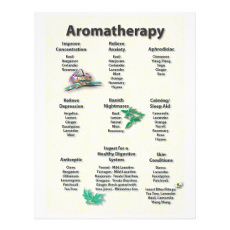Yellow Patterned Aromatherapy Chart Flyer