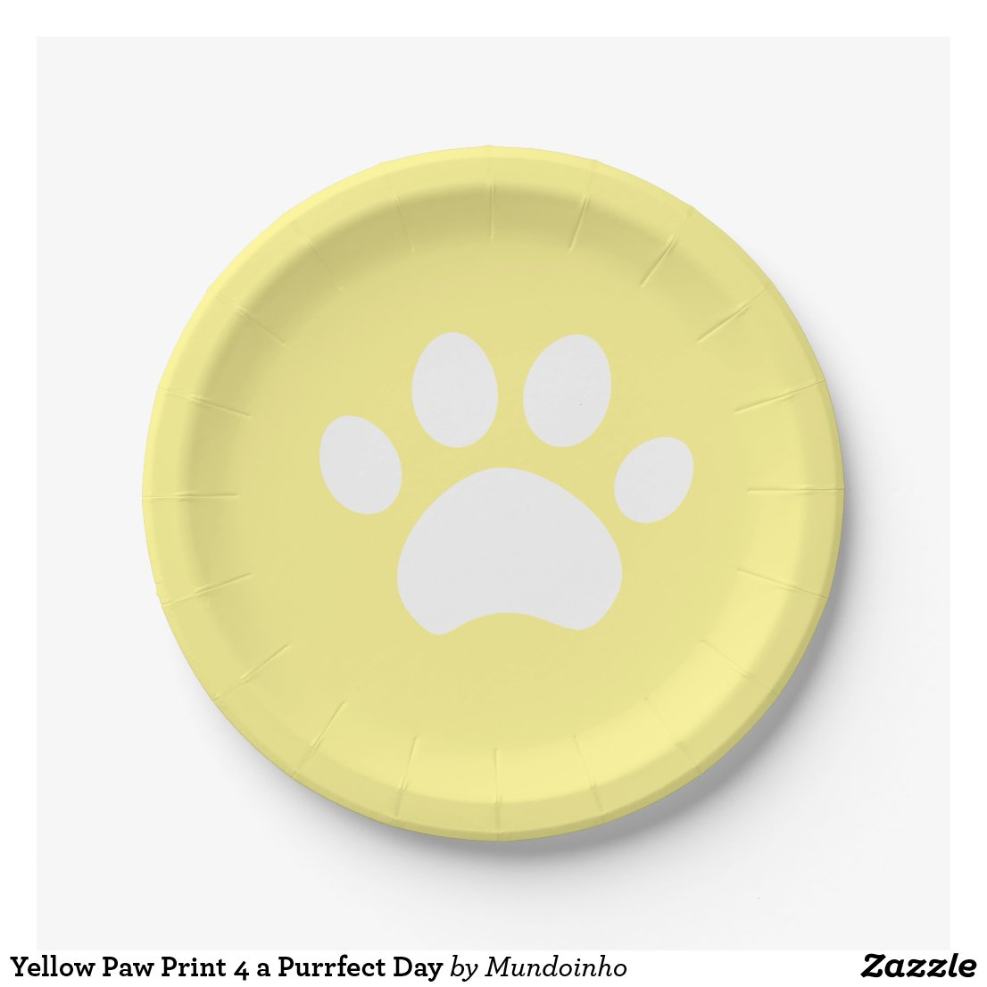 Yellow Paw Print 4 a Purrfect Day Paper Plate  sc 1 st  Mundoinho & Decor u0026 Supplies 4 Kids Parties: Cat Paw Print Paper Plates in ...