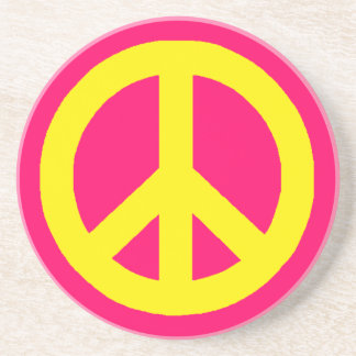 Yellow Peace Drink Coaster
