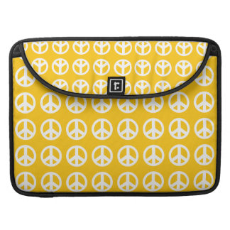 """Yellow peace sign Macbook Pro 15"""" Laptop Case Sleeves For MacBook Pro"""