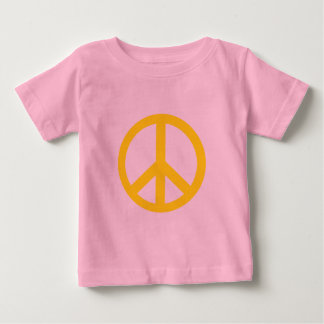 Yellow Peace Symbol Products Baby T-Shirt