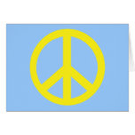 Yellow Peace Symbol Products Greeting Cards