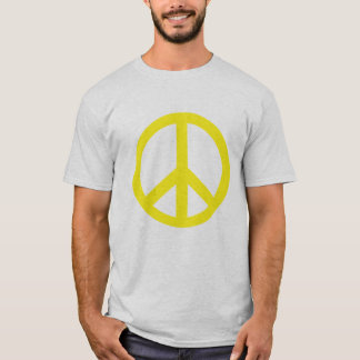 Yellow Peace Symbol Products T-Shirt