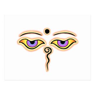 Yellow peach Buddha Eyes.png Postcard