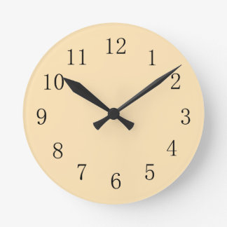 Yellow Peach Color Kitchen Wall Clock