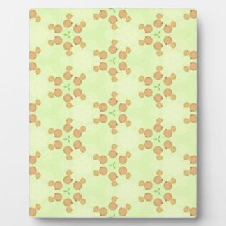 Yellow Peach Customizable Background Pattern Plaque