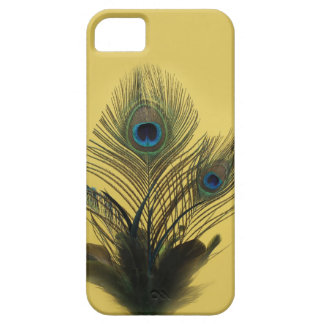 Yellow Peacock Feathers iPhone 5 Barely There iPhone SE/5/5s Case