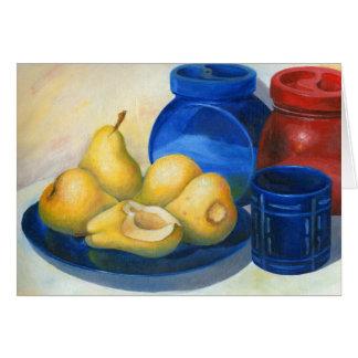 yellow pears card
