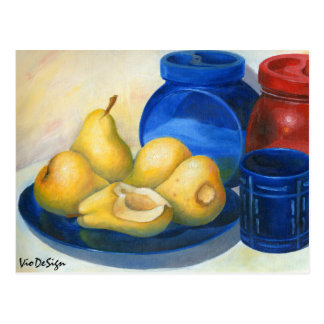 yellow pears postcard
