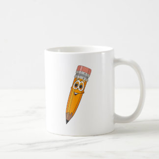 Yellow Pencil Cartoon Coffee Mug