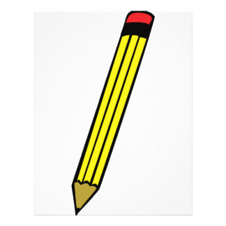 yellow pencil icon flyer