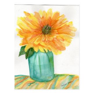 Yellow Peony Postcard