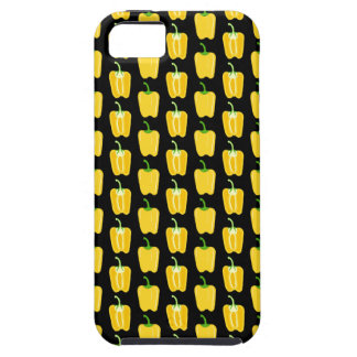Yellow Peppers Pattern. On Black. iPhone SE/5/5s Case