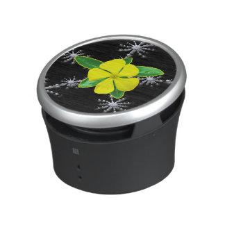 Yellow Periwinkle Fractal Splash Bluetooth Speaker