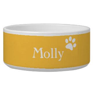 Yellow    Personalized Dog Dish