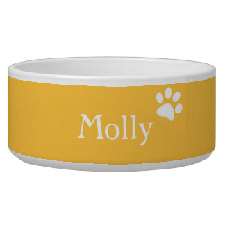 Yellow  | Personalized Dog Dish