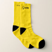 Yellow Personalized Groom Wedding Socks