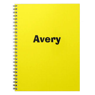 Yellow Personalized Notebook