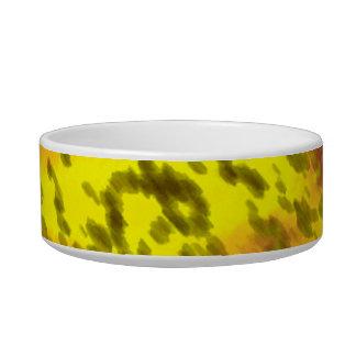 yellow pet bowl